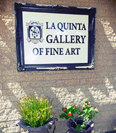 Entry Sign at the La Quinta Gallery of Fine Art